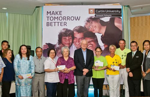 Charities receive proceeds from Curtin Sarawak Open Day