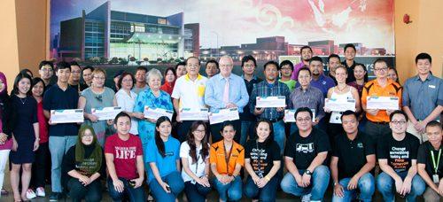 Curtin Sarawak Open Day Committee donates to nine charities