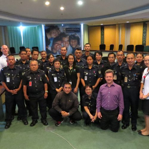 Experts from Australian campus help train Curtin Sarawak safety and security personnel