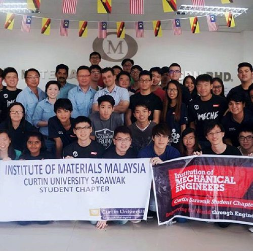 Curtin Sarawak student chapter members gain valuable insights into industry