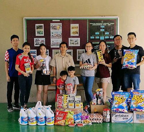 Caring Curtin Malaysia students donate to orphanage