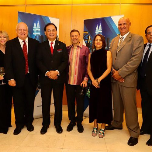 Curtin Malaysia senior executives attend high commissioner's Australia Day event