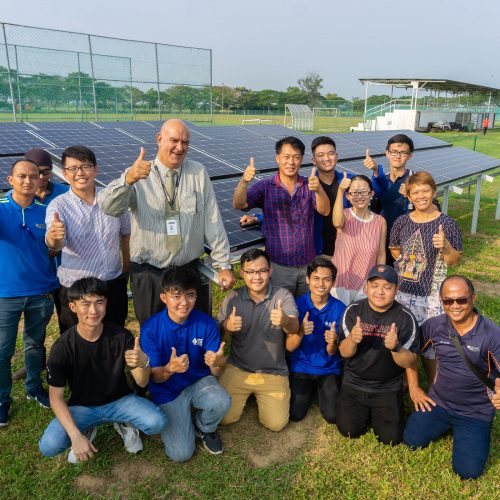 Curtin students build solar-powered system for campus soccer field floodlights