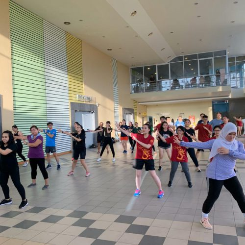 Curtin campus community work out in conjunction with national sports month
