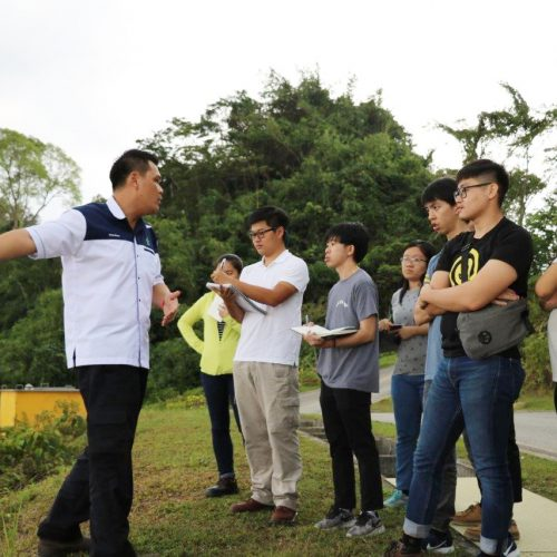 Curtin students learn about waste management at Kuching Integrated Waste Management Park