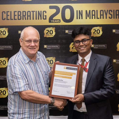 Dr. Sukanta Roy receives Curtin recognition for outstanding contribution to student learning