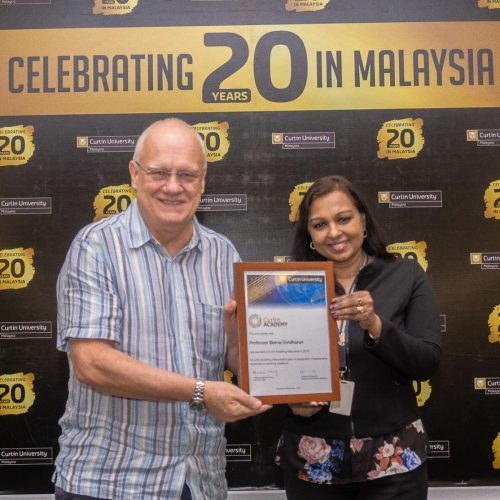 Curtin Malaysia's Professor Beena Giridharan conferred Curtin Academy Fellowship for commitment to teaching excellence