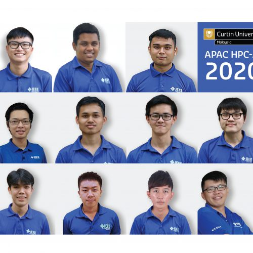 Curtin Malaysia team competing in 2020 APAC HPC and AI Competition