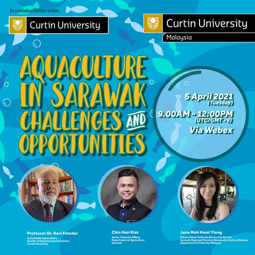 Curtin Malaysia holding webinar on aquaculture, introducing postgraduate course in sustainable aquaculture