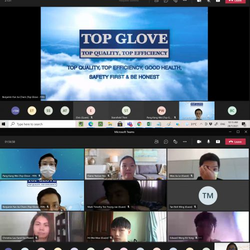 Curtin engineering and science students visit Top Glove processing plant virtually